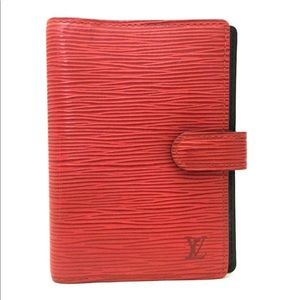 Louis Vuitton Epi agenda pm red leather notebook